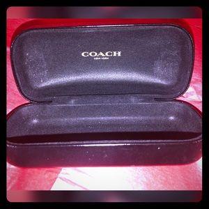 Coach large sunglass case